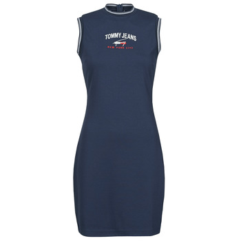 textil Mujer Vestidos cortos Tommy Jeans TJW TIMELESS SCRIPT DRESS Marino
