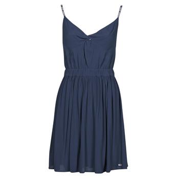 textil Mujer Vestidos cortos Tommy Jeans TJW ESSENTIAL STRAP DRESS Marino