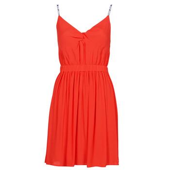 textil Mujer Vestidos cortos Tommy Jeans TJW ESSENTIAL STRAP DRESS Rojo