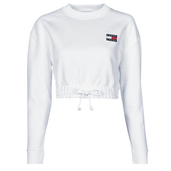 textil Mujer Sudaderas Tommy Jeans TJW SUPER CROPPED BADGE CREW Blanco