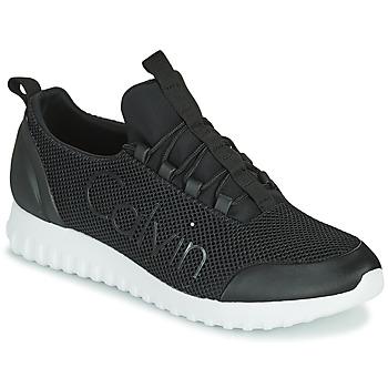 Zapatos Hombre Zapatillas bajas Calvin Klein Jeans RUNNER SNEAKER LACEUP MESH Negro