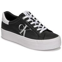 Zapatos Mujer Zapatillas bajas Calvin Klein Jeans VULCANIZED FLATFORM LACEUP NY Negro