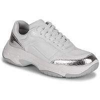Zapatos Mujer Zapatillas bajas Calvin Klein Jeans CHUNKY SOLE LACEUP PU-PYT PES Blanco / Plata