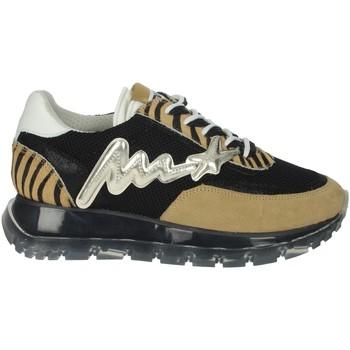 Zapatos Mujer Zapatillas bajas Meline 1700 Negro/Marrón Taupe