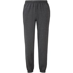 textil Hombre Pantalones de chándal Fruit Of The Loom SS405 Gris Oscuro Jaspeado