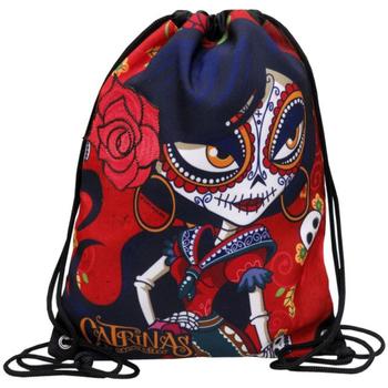 Bolsos Mujer Mochila Catrinas MC-23-CT Rojo
