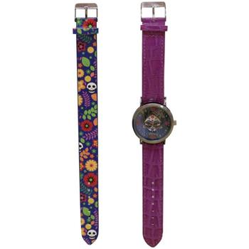 Relojes & Joyas Niña Relojes analógicos Catrinas W-01-CT Morado