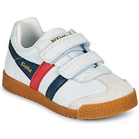 Zapatos Niños Zapatillas bajas Gola HARRIER LEATHER VELCRO Blanco / Marino / Rojo