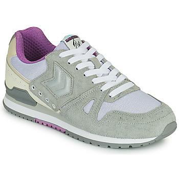 Zapatos Mujer Zapatillas bajas Hummel MARATHONA SUEDE Gris / Violeta