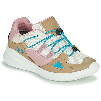 Zapatos Niños Zapatillas bajas Hummel BOUNCE RUNNER TEX JR Beige / Rosa