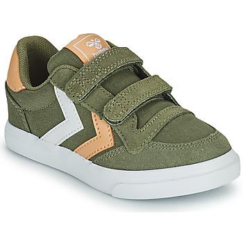 Zapatos Niños Zapatillas bajas Hummel STADIL LOW JR Verde