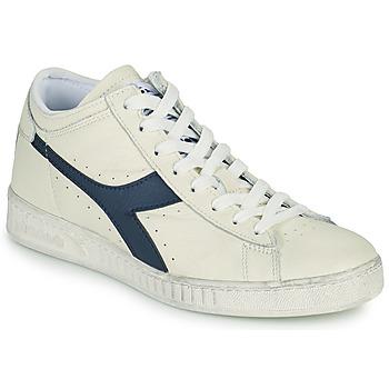 Zapatos Zapatillas altas Diadora GAME L WAXED ROW CUT Blanco / Azul