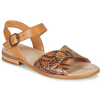 Zapatos Mujer Sandalias Karston XABERO Camel / Serpiente
