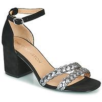 Zapatos Mujer Sandalias Karston POMELOS Negro / Plateado