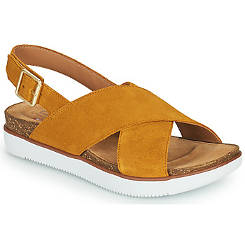 Zapatos Mujer Sandalias Clarks ELAYNE CROSS Mostaza