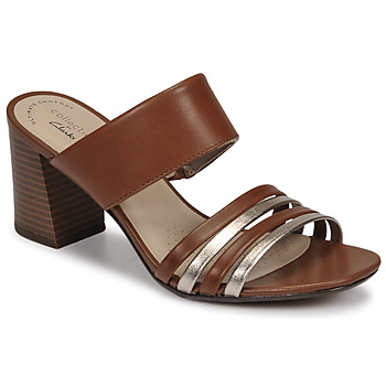 Zapatos Mujer Zuecos (Mules) Clarks JOCELYNNE ANDI Marrón / Plateado