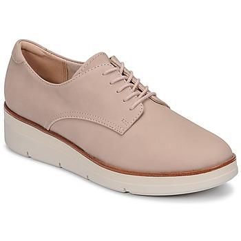 Zapatos Mujer Derbie Clarks Shaylin Lace Rosa
