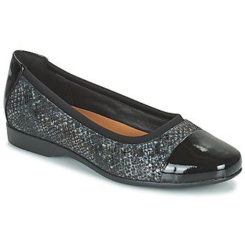 Zapatos Mujer Bailarinas-manoletinas Clarks UN DARCEY CAP2 Negro