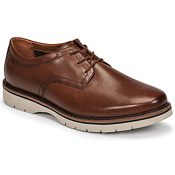 Zapatos Hombre Derbie Clarks BAYHILL PLAIN Marrón