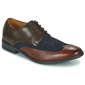 Zapatos Hombre Derbie Clarks STANFORD LIMIT Marrón / Azul