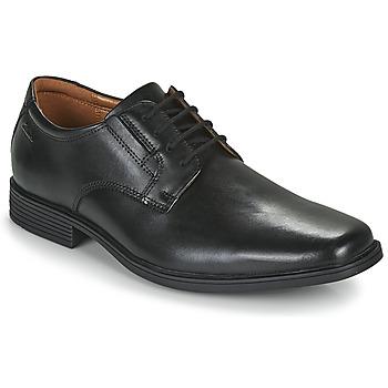 Zapatos Hombre Derbie Clarks TILDEN PLAIN Negro