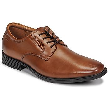 Zapatos Hombre Derbie Clarks TILDEN PLAIN Marrón