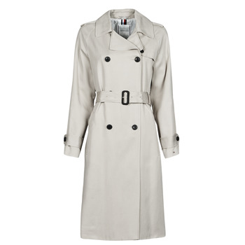 textil Mujer Trench Tommy Hilfiger DB LYOCELL FLUID TRENCH Beige