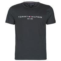 textil Hombre Camisetas manga corta Tommy Hilfiger CORE TOMMY LOGO Negro