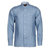 textil Hombre Camisas manga larga Tommy Hilfiger PIGMENT DYED LINEN SHIRT Azul
