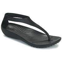 Zapatos Mujer Chanclas Crocs CROCS SERENA FLIP W Negro