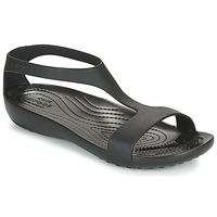 Zapatos Mujer Sandalias Crocs CROCS SERENA SANDAL W Negro