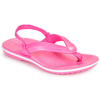 Zapatos Niña Chanclas Crocs CROCBAND STRAP FLIP K Rosa