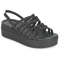 Zapatos Mujer Sandalias Crocs CROCS BROOKLYN STRAPPY LOWWDGW Negro