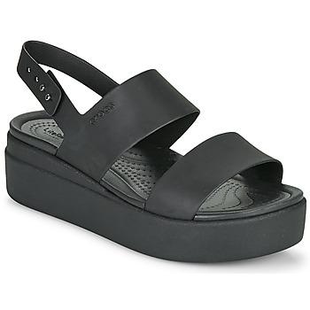 Zapatos Mujer Sandalias Crocs CROCS BROOKLYN LOW WEDGE W Negro