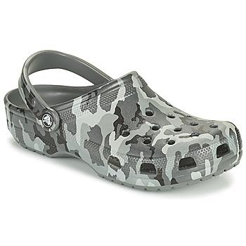 Zapatos Hombre Zuecos (Clogs) Crocs CLASSIC PRINTED CAMO CLOG Camuflaje / Gris