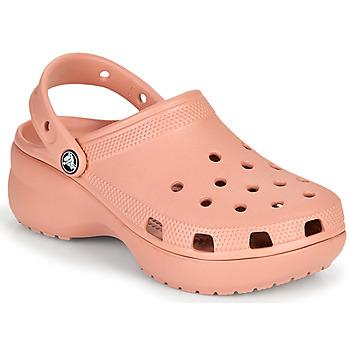 Zapatos Mujer Zuecos (Clogs) Crocs CLASSIC PLATFORM CLOG W Rosa