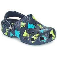 Zapatos Niño Zuecos (Clogs) Crocs CLASSIC MONSTER PRINT CLOG T Azul