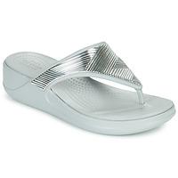 Zapatos Mujer Chanclas Crocs CROCS MONTEREY METALLIC WGFPW Plateado