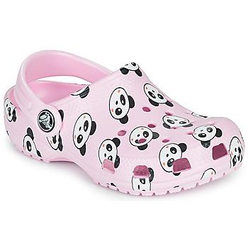 Zapatos Niña Zuecos (Clogs) Crocs CLASSIC PANDA PRINT CLOG K Rosa / Panda