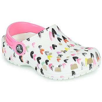 Zapatos Niña Zuecos (Clogs) Crocs CLASSIC HEART PRINT CLOG K Blanco / Coeur