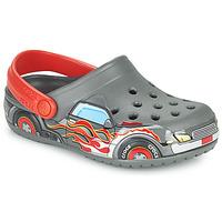 Zapatos Niño Zuecos (Clogs) Crocs FLTRUCKBANDCLOG K Gris / Rojo