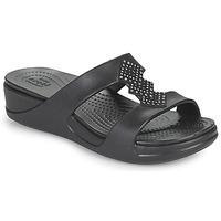 Zapatos Mujer Zuecos (Mules) Crocs CROCSMONTEREYSHIMMERSLPONWDG W Negro