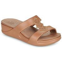 Zapatos Mujer Zuecos (Mules) Crocs CROCSMONTEREYSHIMMERSLPONWDG W Bronce