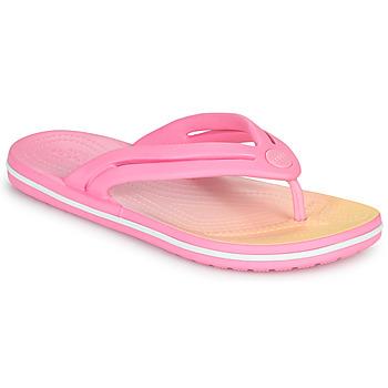 Zapatos Mujer Chanclas Crocs CROCBAND OMBRE FLIP W Rosa