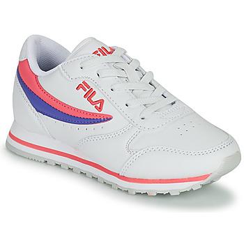 Zapatos Niña Zapatillas bajas Fila ORBIT LOW KIDS Blanco / Rosa