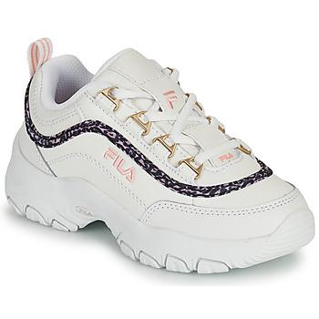 Zapatos Niña Zapatillas bajas Fila STRADA A LOW JR Blanco / Beige