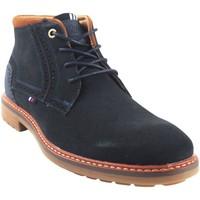 Zapatos Hombre Botas de caña baja Bitesta Botín caballero  32173 azul Azul