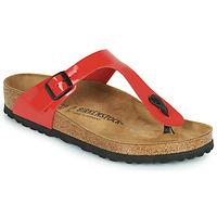 Zapatos Mujer Chanclas Birkenstock GIZEH Rojo