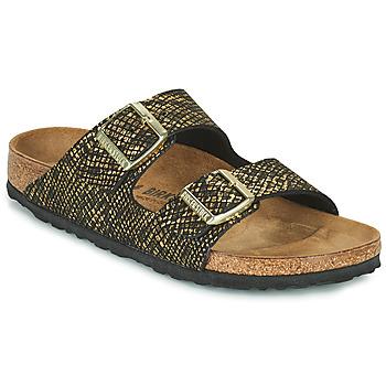 Zapatos Mujer Zuecos (Mules) Birkenstock ARIZONA Negro / Oro