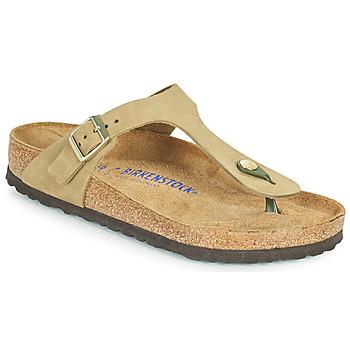 Zapatos Mujer Chanclas Birkenstock GIZEH SFB Marrón